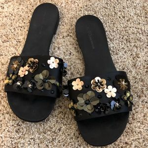 Cute black dressy sandals